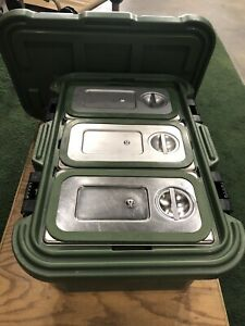 Cambro 180MPC Food Carrier with stainless inserts and seals