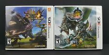 Monster Hunter 3 + 4 Ultimate (Nintendo 3DS) COMPLETE CIB Lot Bundle Capcom RPG