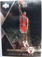 1998/99 Michael Jordan Upper Deck Jordan Rules Silver #J7 Rare Insert Parallel!