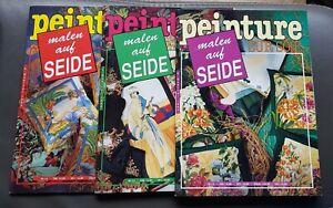 3 Hefte Seidenmalerei Vorlagen peinture sur soie