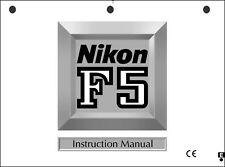 Nikon F5 User Manual Guide Instruction Operator Manual