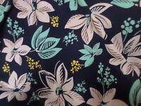 1 yd print   fabric good weight 4 way stretch  spandex lycra J5001