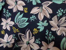 1 yd print   fabric good weight 4 way stretch  spandex lycra J5001