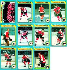 1979-80 O-PEE-CHEE PHILADELPHIA FLYERS 11 Vintage NHL HOCKEY Cards Team Lot BV