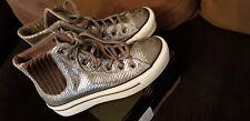 Converse Chucks 37.5 38 Leder Hi Plateau light grey Neu