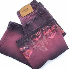 Iceberg History Pink Felix The Cat Jeans, Made In Italy, Size 27