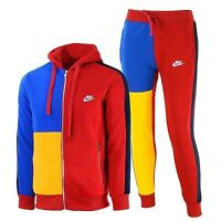 Nike Sportswear Color Block Full Zip Hoodie & Pants Set 2 Pc Set New W Tags