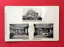 AK DRESDEN Strehlen 1914/15 Villa Tiergartenstrasse 48 mit Innenansicht  ( 41308