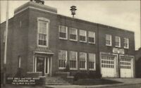 Columbiana OH City Hall & Fire House Station Old Postcard