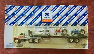 1997 Vintage New Holland ERTL Tractor Trailer Set 1/64 Die-castModel: 3045