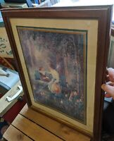 SOLID WOOD PICTURE FRAME GOLD 20x16/23x18 ANDRES ORPINAS PRINT ANTIQUE-VTG GIRL