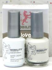LECHAT NOBILITY LED/UV GelColor & Free Nail Polish Set NBCS021- White Cream
