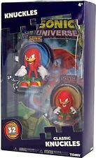 Sonic The Hedgehog Knuckles And Classic Knuckles Figures With Comic Book 2 Pack