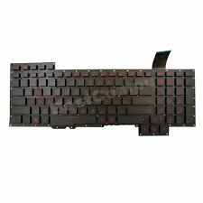 Genuine New Asus G751J G751JL G751JM G751JT G751JY Laptop Keyboard US RED Letter
