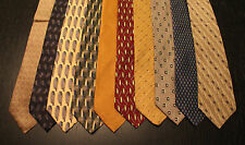Lot of 10 NEW Bill Blass Neck Ties with Patterns LD010