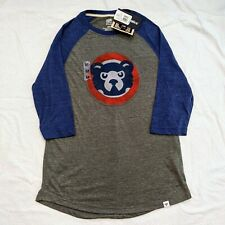 Chicago Cubs Cooperstown Collection Raglan Sleeve Shirt Mens Medium Fanatics New