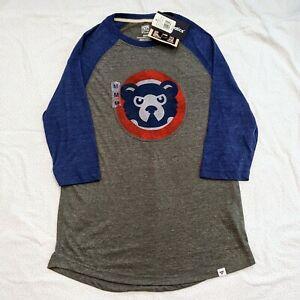 Chicago Cubs Cooperstown Collection Raglan Sleeve Shirt Mens Medium Fanatics New