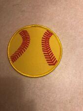 New Youth Girls Fastpitch Softball 3� Iron-On/Sew Patch Round Yellow Ball