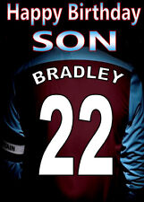 BURNLEY FOOTBALL FAN Personalised Birthday Card!! any name/number/relation..