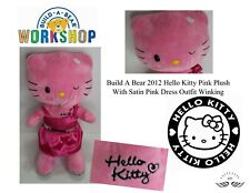 Build A Bear 2012 Hello Kitty Pink Plush With Satin Pink Dress Outfit Winking