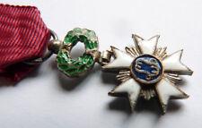 Médaille réduction ORDRE DE LA COURONNE Belgique en argent et émail
