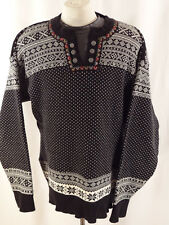 Dale-of-Norway-Ladies Classic-Sweater-Lg. Nordic-Fair Isle Pullover Henley EUC