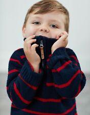 Joules Boys Ryan   Half Zip Chenille Sweatshirt  -  Size 6yr