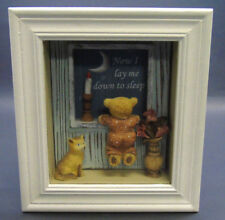 Nursery Decor Shadow Box Wall Hanging Plaque Baby Art Girls Boys Kids Bed Room