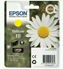 T1804 Epson 18 Genuine Yellow Ink Cartridge Daisy Expression Home XP-202 XP-415