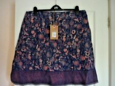 MANTARAY NAVY DARK PINK WATER SCENE JERSEY SKIRT. UK 18, EUR 44-46, US 14. BNWT