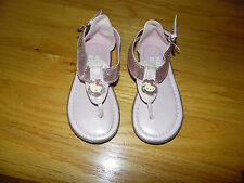 Girl's HELLO KITTY sandals Sz 8 Pink Thongs with SPARKLES!  EXC COND!