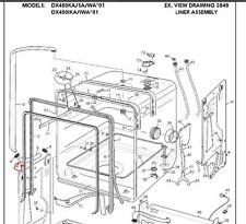 Dishwasher seal SET Dishlex Simpson Westinghouse 0208400158G +1 x 0208400131G