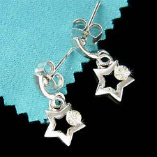 w Swarovski Crystal Rhinestone Dainty Twinkle ~Little Shooting STAR Earrings NEW
