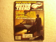 Motor Trend 1985 April Honda Civic Colt Dodge Omni Toyota Mitsubishi VW GT
