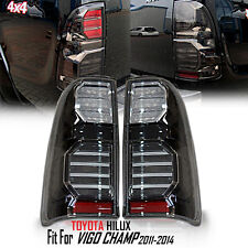 TOYOTA HILUX VIGO SR5 MK6 2005-14 CHAMP MK7 REAR BLACK SMOKE LED TAIL LIGHT LAMP