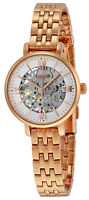Fossil ME3072 Jacqueline Skeleton Dial Rose Gold Tone Automatic Women's Watch