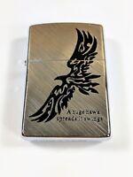 ZORRO Oil Kerosene Refillable Flip Top Pocket Windproof Metal Lighter Black Hawk