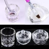 Unique Clear Nail Art Acrylic Crystal Glass Dappen Dish Liquid Powder Container