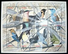 2000 MNH LIBERIA BIRD STAMPS SHEET OF 8 BIRDS CUCKOO WILLOW WARBLER WILDLIFE