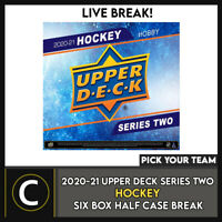 2020-21 UPPER DECK SERIES 2 - 6 BOX (HALF CASE) BREAK #H1183 - PICK YOUR TEAM -