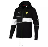 Puma Men's Scuderia Ferrari Hooded Size Large Sweat Jacket Black 577825-02 NWT