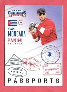 2015 Panini Contenders Passports Insert Set (1-25) - Moncada Devers Torres Lopez