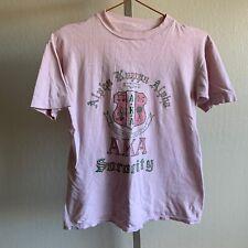 Vtg Alpha Kappa Alpha Sorority Thin Distressed Pink Green Shirt Jeanne XS