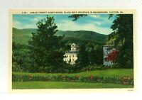 Clayton Georgia Rabun County Court House Black Rock Mountain Linen Postcard