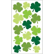 Scrapbooking Crafts Stickers Stickos Large Shamrocks Repeats Green Shades Clover