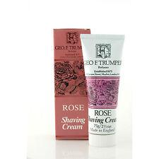 Geo F Trumper Rose Shaving Cream Travel tube 75g