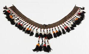 """7.09"""" x 45.67"""" Tassel Segusha Belly Dance Uzbek VINTAGE FAST Shipment UPS 11670"""