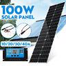 100W Flexible Dual USB Solar Panel Roof Boat Car Changer+10-40A Solar