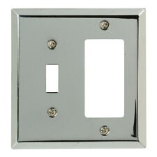 Amerelle  Century  Polished Chrome  2 gang Stamped Steel  Toggle  Wall Plate