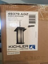 Kichler Satin Etched Bronze Outdoor Hanging Pendant 49379 AGZ New unopened box
